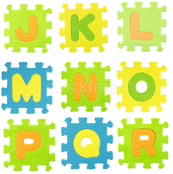 Alphabet Puzzle Set Briefe weiß Stock foto © designsstock