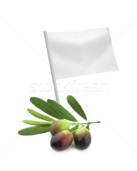 Saludable alimentos orgánicos frescos de oliva bandera Foto stock © designsstock