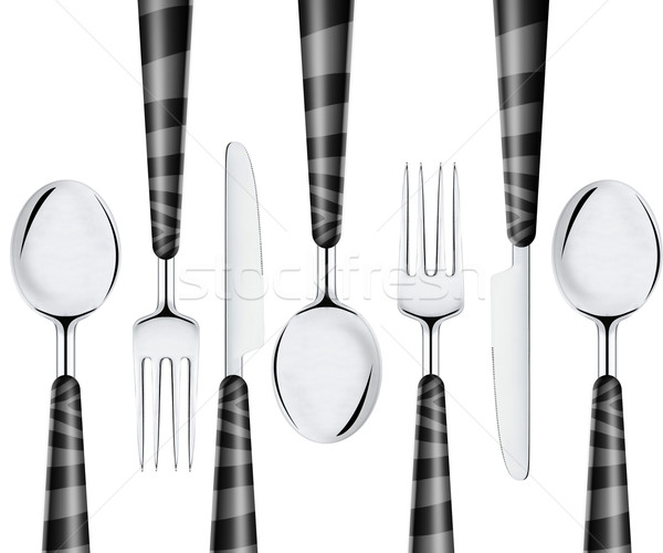 Fork spoon and knife Stock photo © designsstock
