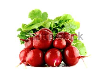 Rood radijs klein tuin witte voedsel Stockfoto © designsstock