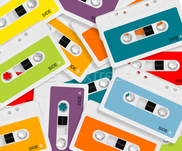 colored Audio casette Stock photo © designsstock