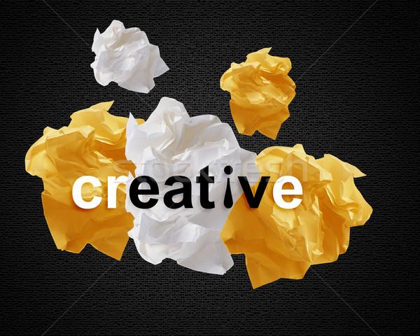 Crumpled papers Stock photo © designsstock