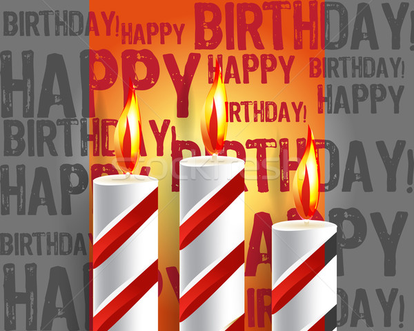 burning candle and shadow on gray background  Stock photo © designsstock