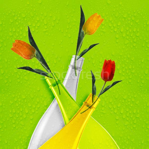Colored glass bottle Stock photo © designsstock