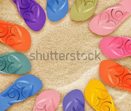 Colorful Flip Flops Stock photo © designsstock