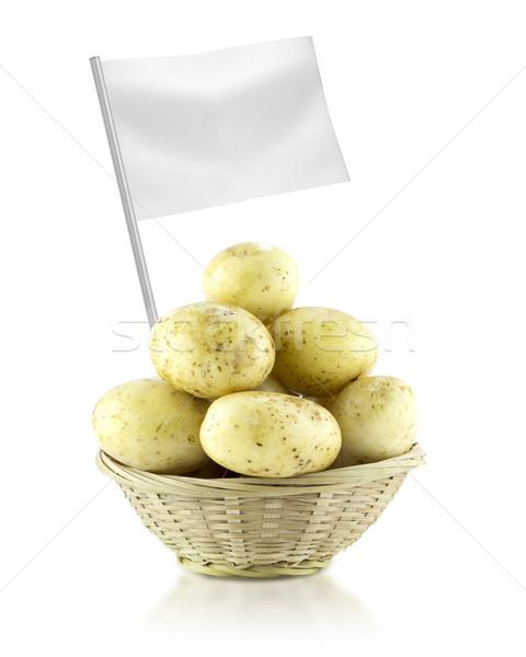 Saludable alimentos orgánicos frescos papa bandera Foto stock © designsstock