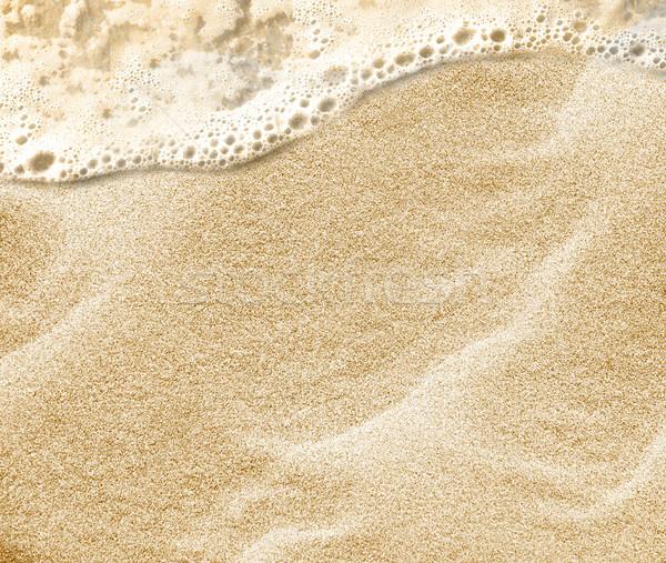 Foto stock: Areia · praia · água · macio · onda · mar