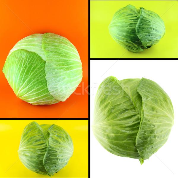 Saludable alimentos orgánicos establecer frescos verde col Foto stock © designsstock