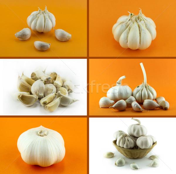 Saudável alimentos orgânicos conjunto fresco alho natureza Foto stock © designsstock