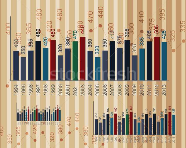Negócio gráficos gráfico escritório mundo bar Foto stock © designsstock