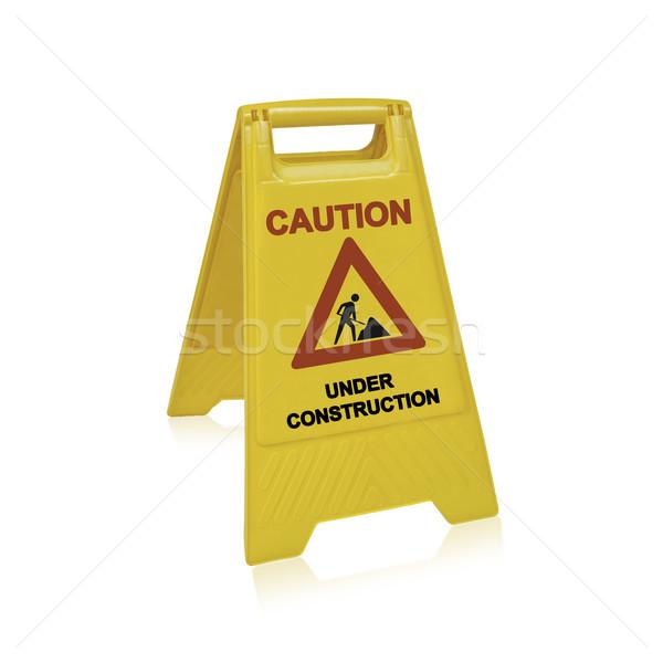 Construction signe conception de site web travaux chemin étage Photo stock © designsstock