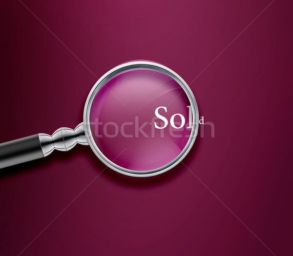 Magnifying glass Stock photo © designsstock