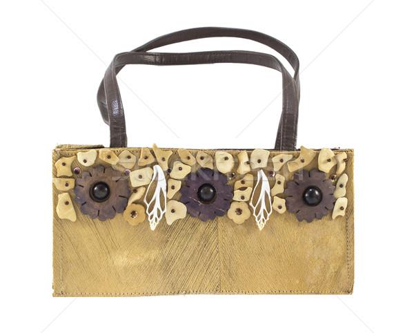 Tasche isoliert weiß Textur Stock foto © designsstock