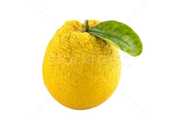 Foto stock: Doce · fruto · de · laranja · folhas · trabalhar · caminho · comida