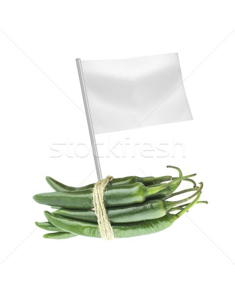 Saudável alimentos orgânicos fresco verde quente Foto stock © designsstock