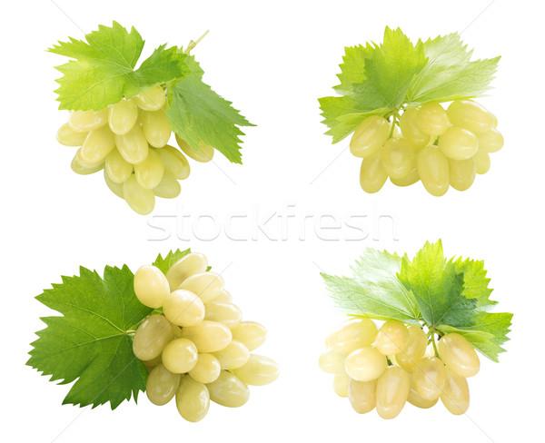 健康 自然食品 セット 新鮮な 緑色のブドウ 自然 ストックフォト © designsstock