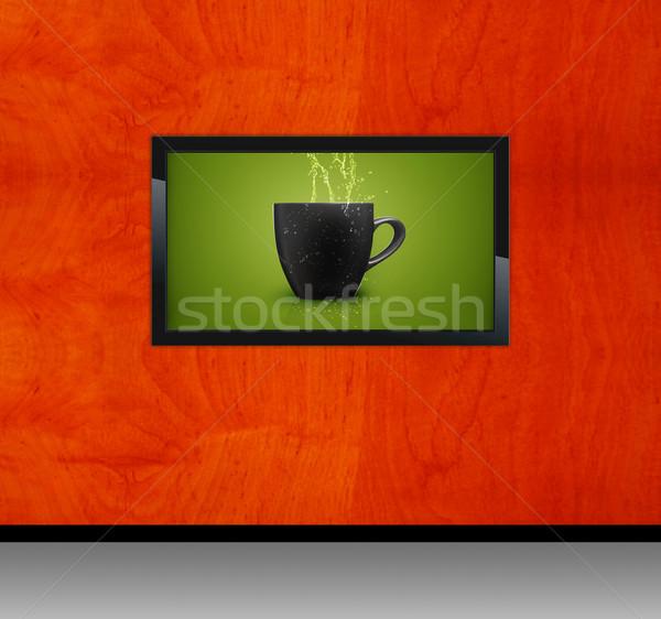 Black LCD tv Stock photo © designsstock
