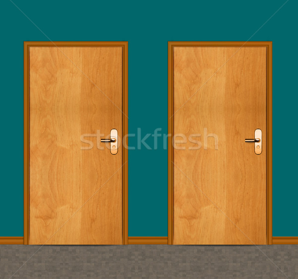 apartment wooden door Stock photo © designsstock