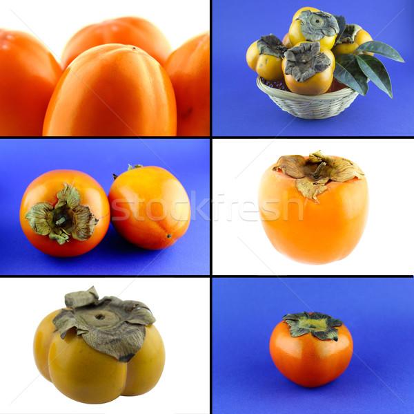 Gesunden Bio-Lebensmittel Set frischen persimmon Natur Stock foto © designsstock