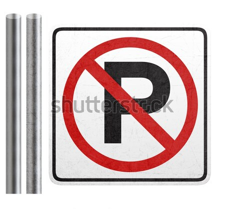 No parking sign on white Stock photo © designsstock