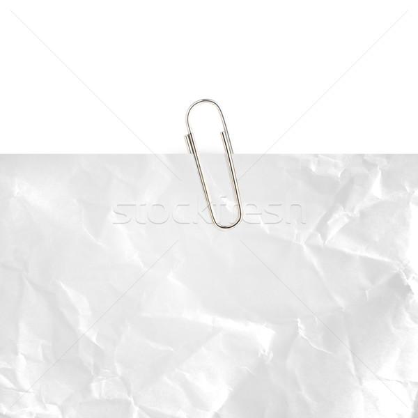 Schrijfpapier grijs paperclip witte kantoor Stockfoto © designsstock