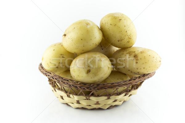 Patatas paja plato trabajo camino alimentos Foto stock © designsstock