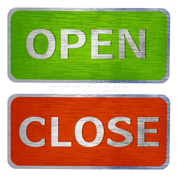 Open and close  signs Stock photo © designsstock