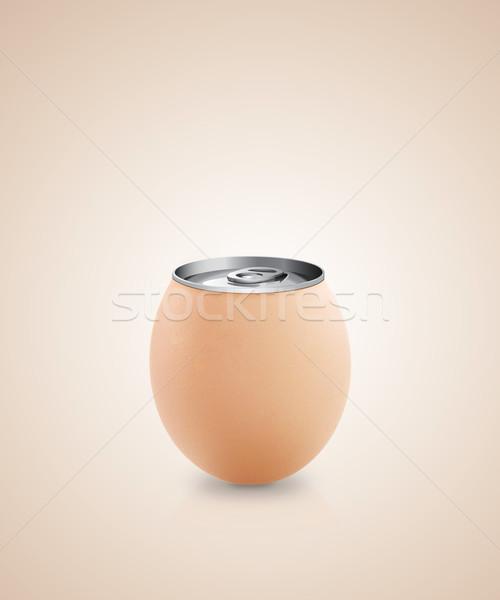 卵 アイデア 金属 することができます 自然 鶏 ストックフォト © designsstock