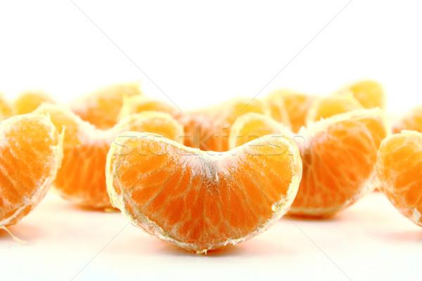 Fresco mandarim folha isolado branco comida Foto stock © designsstock