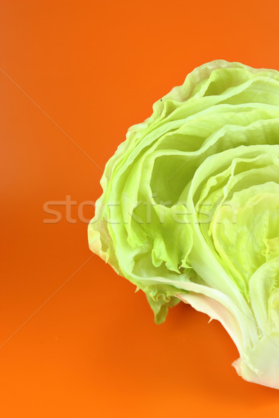 Vert iceberg laitue fraîches orange nature Photo stock © designsstock