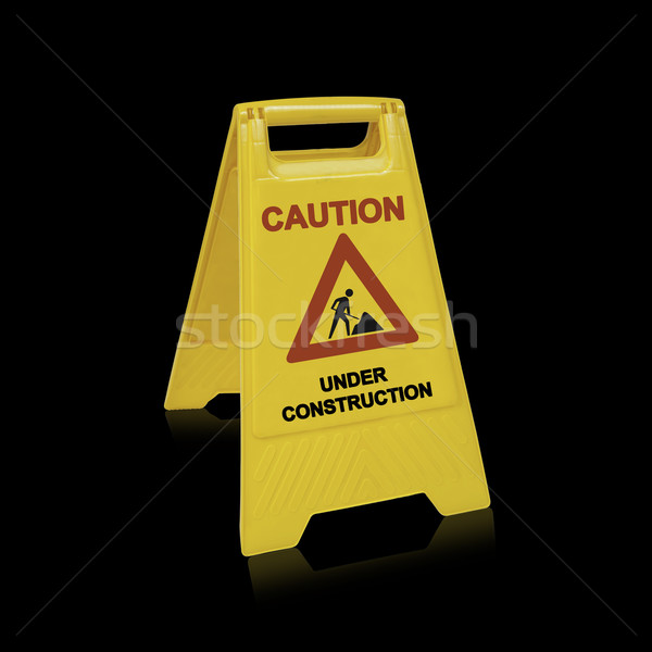 Under construction sign for website design,  (with clipping work path) Stock photo © designsstock