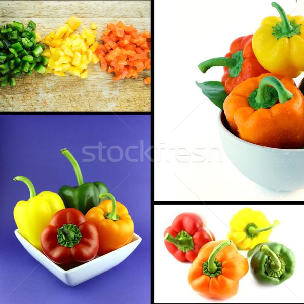 Saudável alimentos orgânicos conjunto fresco colorido doce Foto stock © designsstock