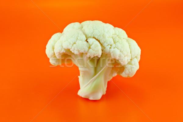 Friss karfiol izolált narancs természet levél Stock fotó © designsstock