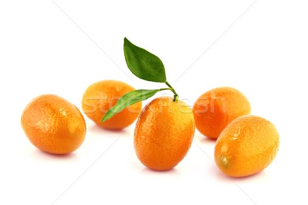 Mały pomarańczy słodkie pozostawia żywności liści Zdjęcia stock © designsstock