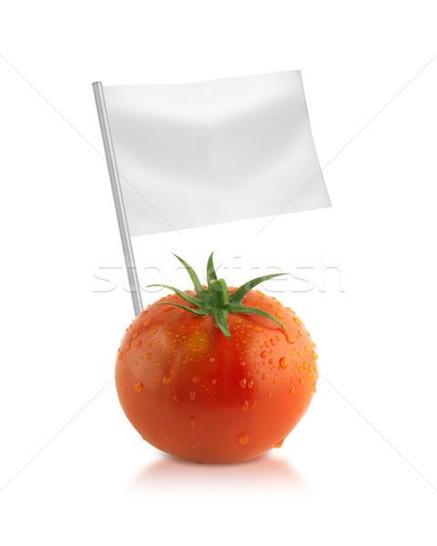 Sağlıklı organik gıda taze domates bayraklar Stok fotoğraf © designsstock