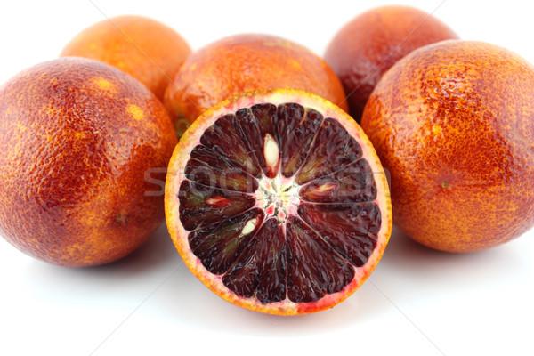 Orange Früchte süß Blätter Essen Blatt Obst Stock foto © designsstock