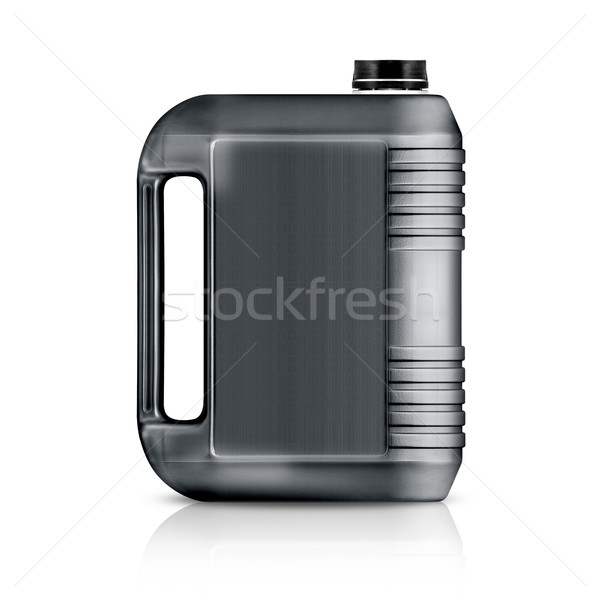 Plastik galon gri can yalıtılmış beyaz Stok fotoğraf © designsstock