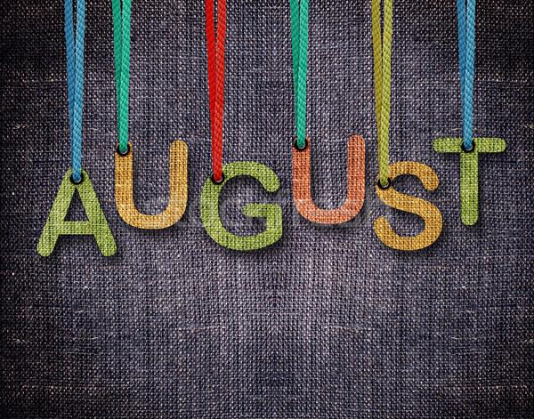 Cartas colgante agosto azul textura diseno Foto stock © designsstock