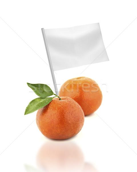 Saudável alimentos orgânicos fresco tangerina bandeira Foto stock © designsstock