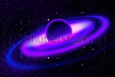 Fantasy deep space nebula with planet and stars Stock photo © designsstock