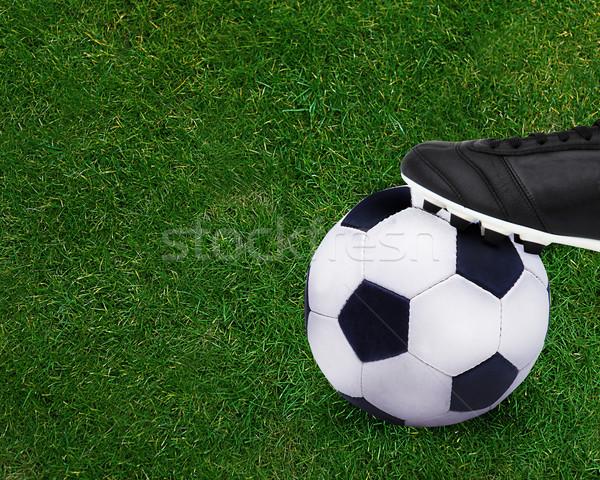 Fußball Sport kid spielen halten Fußball Stock foto © designsstock