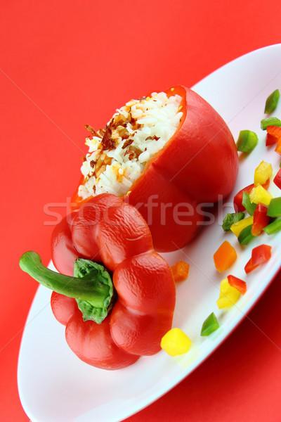 Stuffed red pepper Stock photo © designsstock