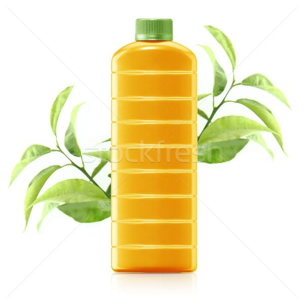 Sok pomarańczowy dzban świeże pomarańczowy pozostawia Zdjęcia stock © designsstock