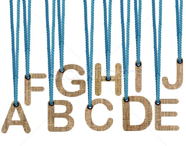письма подвесной изолированный белый работу пути Сток-фото © designsstock