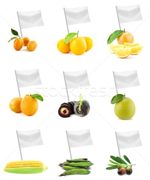 Saudável alimentos orgânicos conjunto fresco frutas legumes Foto stock © designsstock