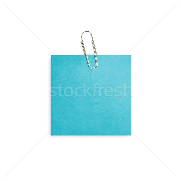 Schrijfpapier Blauw paperclip witte kantoor Stockfoto © designsstock