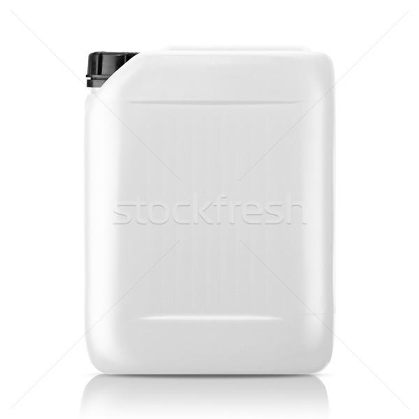 Plastique gallon blanche peuvent isolé travaux Photo stock © designsstock