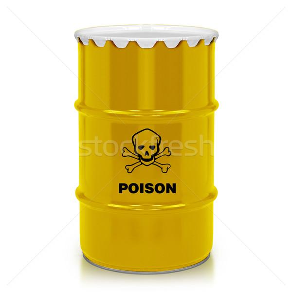 Plastique gallon or baril poison signe Photo stock © designsstock