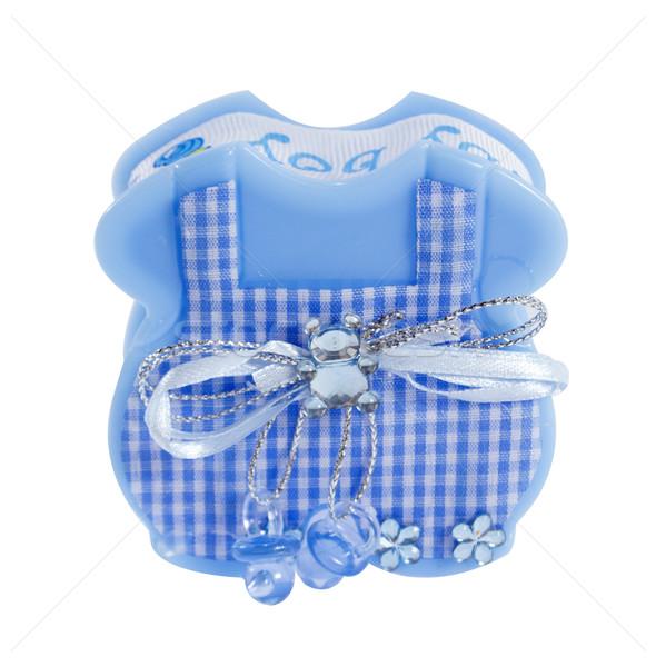 Bébé garçon souvenir bleu tablier boîte Photo stock © designsstock