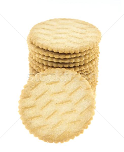 Печенье изолированный белый текстуры группа завтрак Сток-фото © designsstock